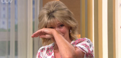Ruth Langsford giggles on This Morning today