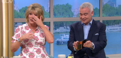 Ruth Langsford giggles on This Morning alongside Eamonn Holmes