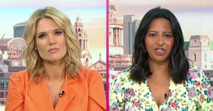 On Good Morning Britain today, host Ranvir Singh was accused of talking over Charlotte Hawkins