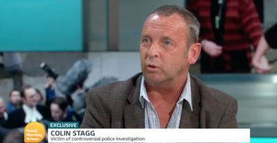 On Good Morning Britain today Colin Stagg divided viewers with his appearance