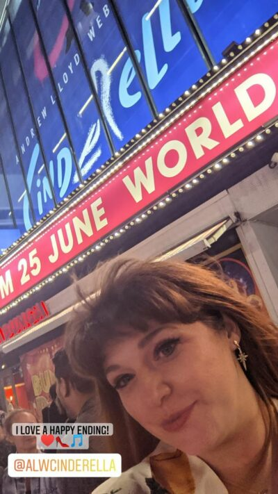 Jenny Ryan poses outside a west end theatre in London