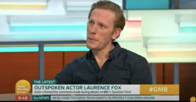 Laurence Fox blasted by Piers Morgan