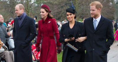 Prince Harry and Meghan Markle with Kate Middleton and Prince William