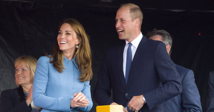 Prince William and Kate Middleton out at an event