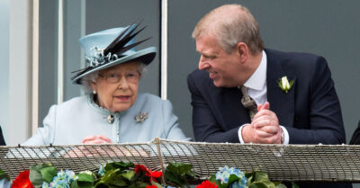 Prince Andrew with his mother Queen Elizabeth