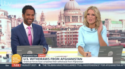 On Good Morning Britain today Charlotte Hawkins made a blunder