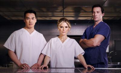 Jason Wong, Emilia Fox and David Graves