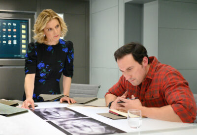 David Caves and Emilia Fox silent witness
