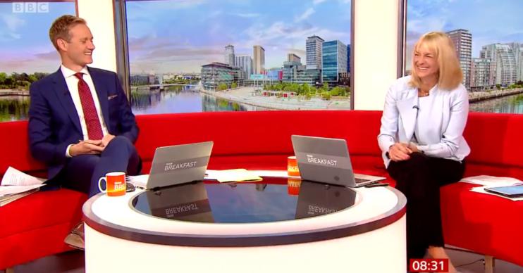 Dan Walker and Louise Minchin host BBC Breakfast today