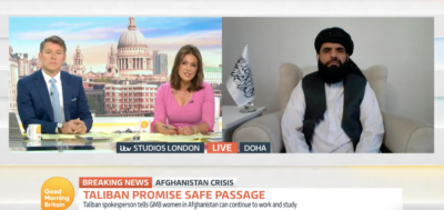 On GMB today, Susanna Reid interviewed a member of the Taliban