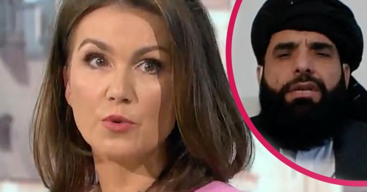 On GMB today, Susanna Reid interviewed a Taliban spokesperson