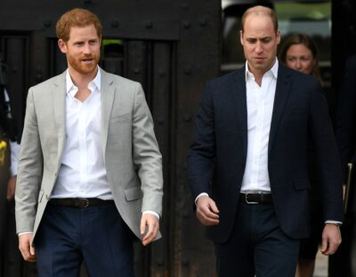 Prince Harry and Prince William walking together