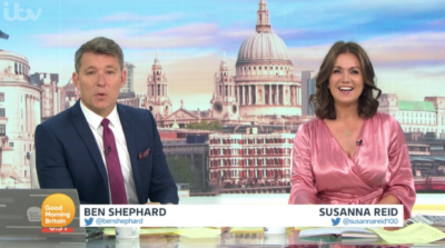 Susanna Reid on Good Morning Britain took some barbs because of her dress today