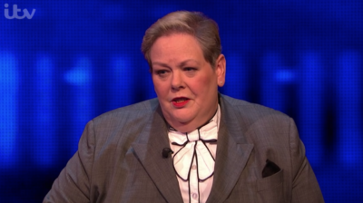 Anne Hegerty on The Chase with her now haircut