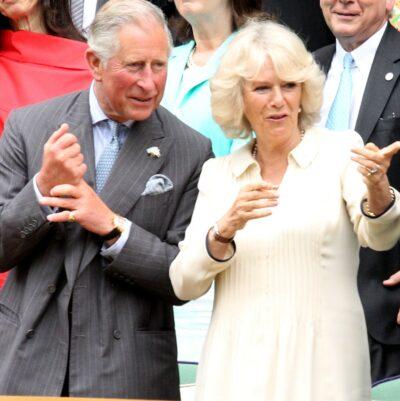 Prince Charles and Camilla at Wimbledon together