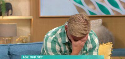 This Morning vet Dr Scott Miller laughing on the show
