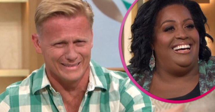 Dr Scott laughing with Alison Hammond on This Morning