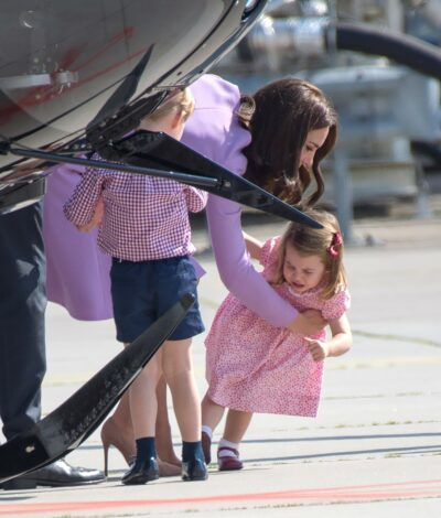 Princess Charlotte falls over and cries