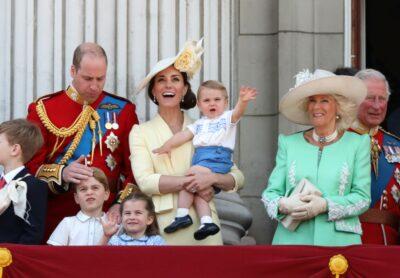 Royal kids on the Buckingham Palace balcony