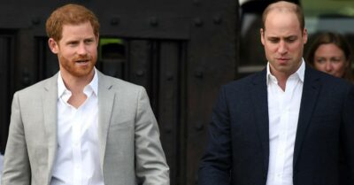 Prince Harry and Prince William walk together