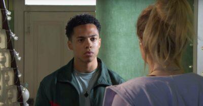 Zack Morris as Keegan speaks with Tiffany