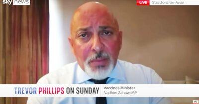 Nadhim Zahawi appears on Sky News