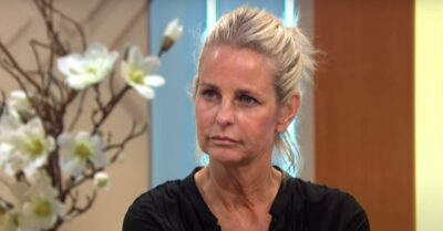 Ulrika Jonsson listens to question being asked of her