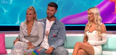 Millie, Liam and Lillie during the Love Island 2021 reunion
