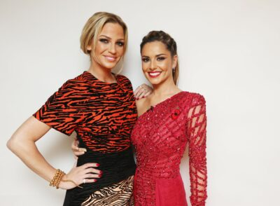 Sarah Harding and Cheryl pictured together