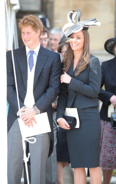 Kate Middleton smiles alongside Prince Harry at first royal event