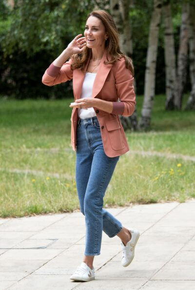 Kate Middleton wears blazer and jeans during royal outing