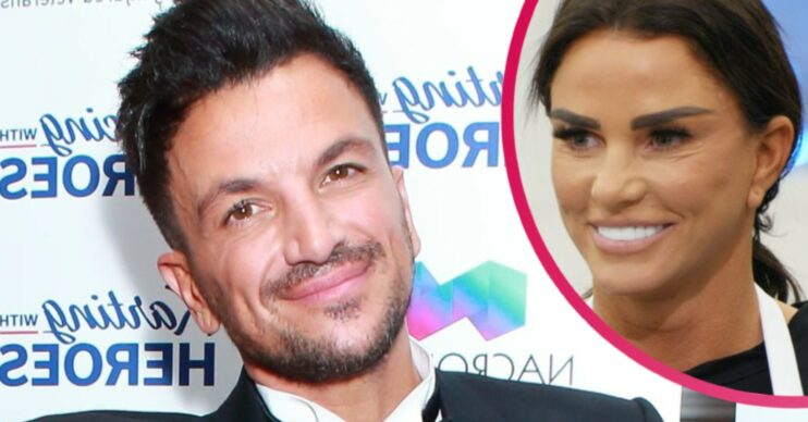 peter andre and Katie price smiling