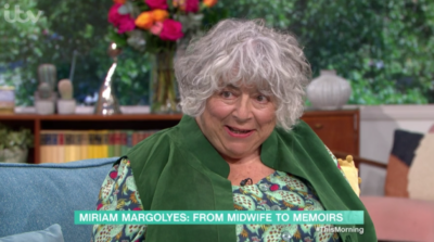 Miriam Morgolyes on This Morning once again swore