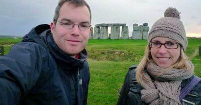 Vincent Tabak pictured with his then girlfriend Tanja Elisabeth Morson at Stonehenge
