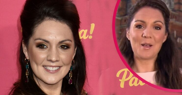 Laura Tobin smiles on red carpet and on GMB