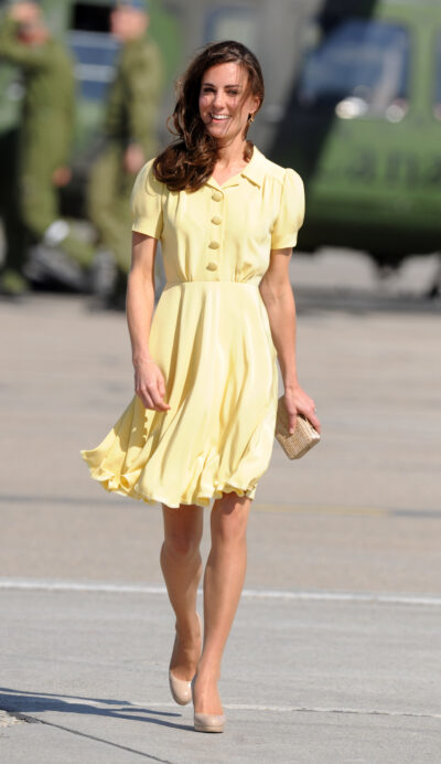 Kate Middleton in a yellow dress