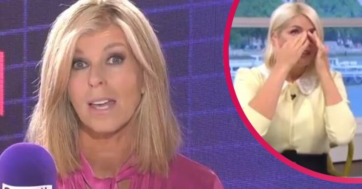 Kate Garraway and Holly Willoughby on This Morning