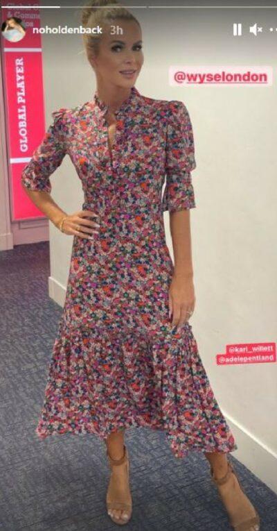 Amanda Holden shows off dress on Instagram today