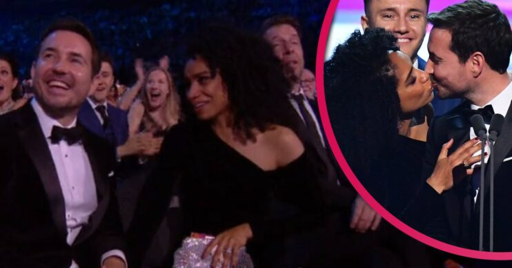 Martin Compston and wife pack on PDA at NTAs