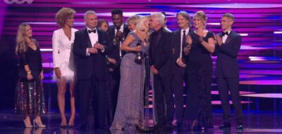Holly Willoughby and Phillip Schofield on stage at the NTAs