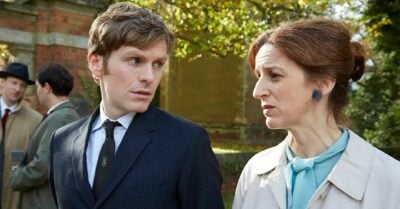 Abigail Thaw with Shaun Evans in Endeavour