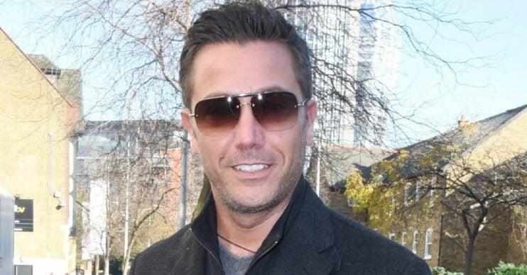Gino D'Acampo smiles outside ITV studios