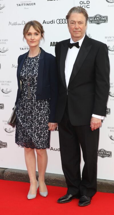 Roger Allam and wife Rebecca Saire
