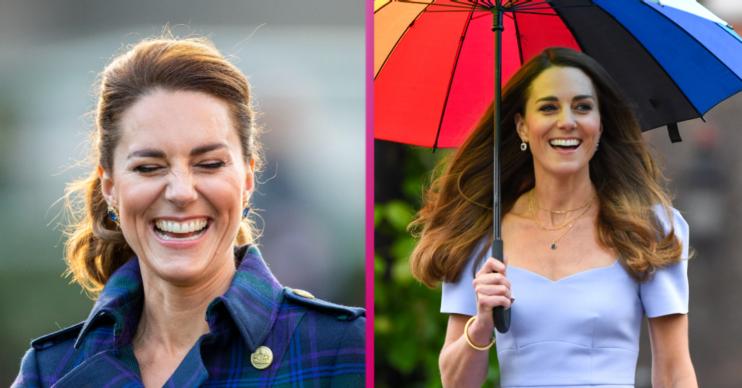 Composite of Kate Middleton smiling