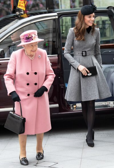 The Queen and Kate Middleton step out for royal engagement