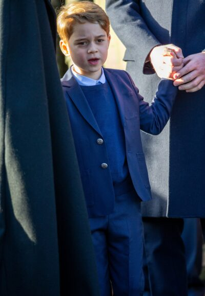 Future King Prince George spotted out with the Royal Family