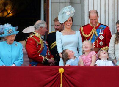The Royal Family on the Palace balcony