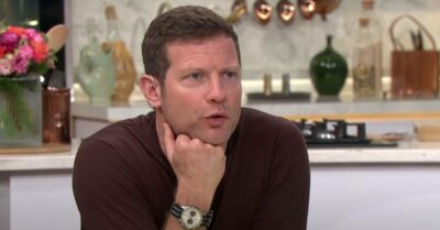 Dermot O'Leary rests his chin on his fist on This Morning