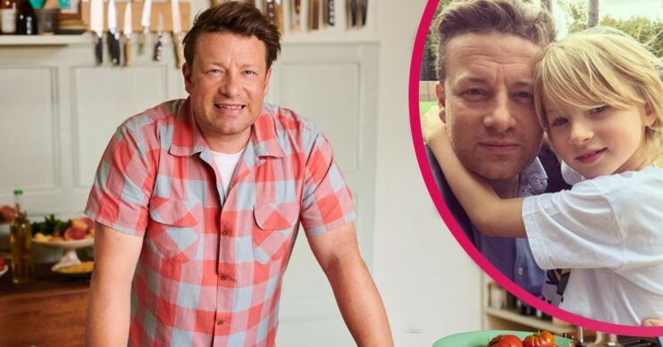 Jamie Oliver with son Bear