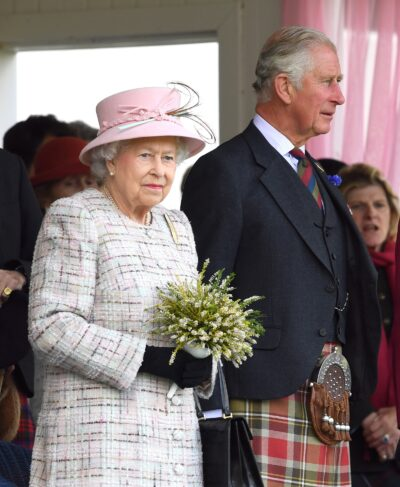 The Queen alongside Prince Charles during royal engagement